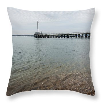 Sea Shore Throw Pillow by Svetlana Sewell