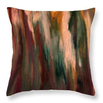 Sea Side Mountain Cliff Throw Pillow