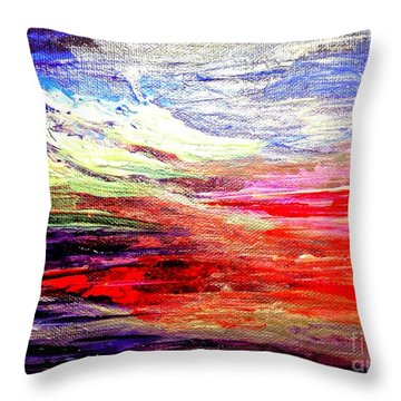 Sea Sky I Throw Pillow