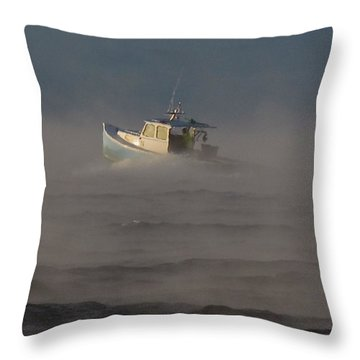 Sea Smoke Lobster Boat Throw Pillow