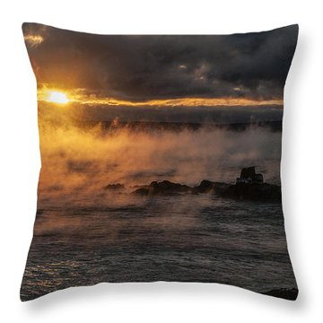 Sea Smoke Sunrise Throw Pillow by Marty Saccone