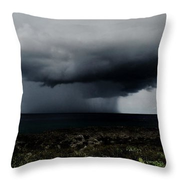 Sea Spout Throw Pillow by Amar Sheow