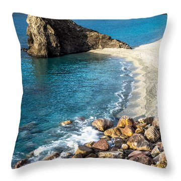 Sea Stack Of Monterosso Throw Pillow