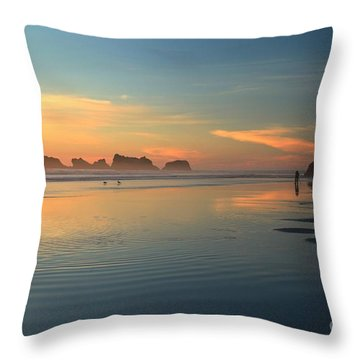 Sea Stack Photographer Throw Pillow by Adam Jewell