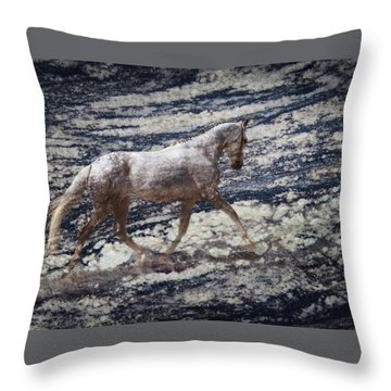 Sea Stallion Throw Pillow