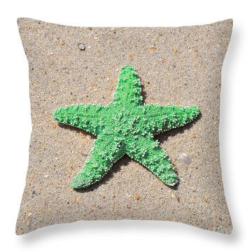 Sea Star - Green Throw Pillow by Al Powell Photography USA