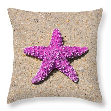 Sea Star - Pink Throw Pillow by Al Powell Photography USA