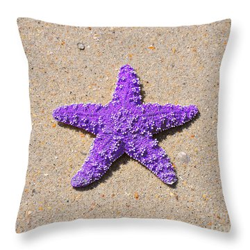 Sea Star - Purple Throw Pillow by Al Powell Photography USA