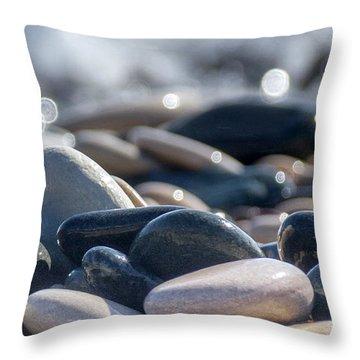 Sea Stones  Throw Pillow by Stelios Kleanthous