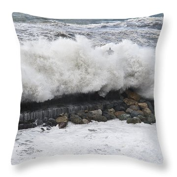 Sea Storm  Throw Pillow by Antonio Scarpi