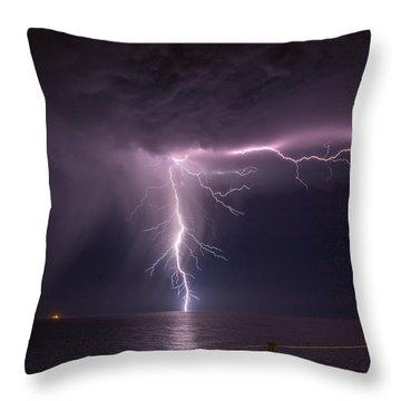 Sea Strike Throw Pillow