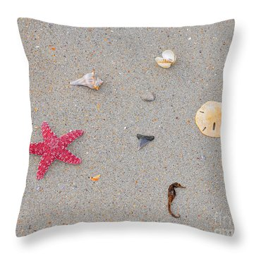 Sea Swag - Red Throw Pillow by Al Powell Photography USA