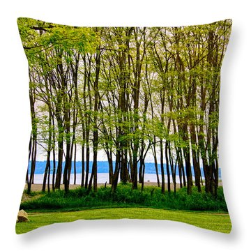 Sea Through The Trees Throw Pillow