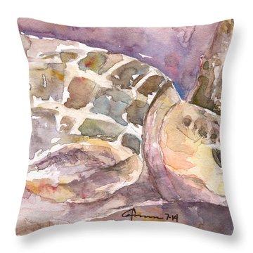 Sea Turtle #3 Throw Pillow