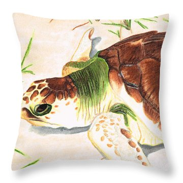 Sea Turtle Art By Sharon Cummings Throw Pillow by Sharon Cummings