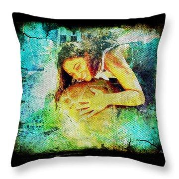 Throw Pillow featuring the digital art Sea Turtle Love by Absinthe Art By Michelle LeAnn Scott
