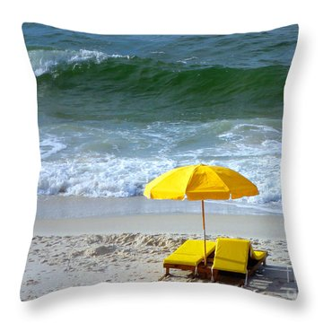Throw Pillow featuring the photograph By The Sea Waiting For Me by Nava Thompson