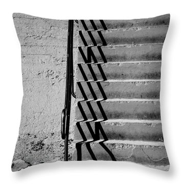 Sea Wall Steps Throw Pillow by Perry Webster