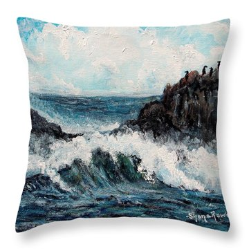 Throw Pillow featuring the painting Sea Whisper by Shana Rowe Jackson