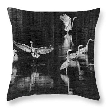 Seabeck Herons Throw Pillow