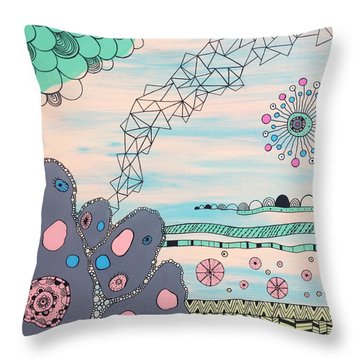 Seabed Spirit Throw Pillow by Susan Claire