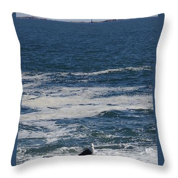 Throw Pillow featuring the photograph Seabreeze. by Robert Nickologianis
