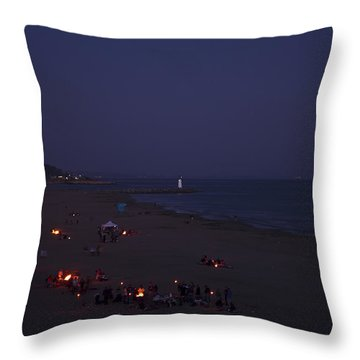 Seabright At Dusk Throw Pillow by Tom Kelly