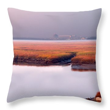 Seabrook Glows Throw Pillow by Shell Ette