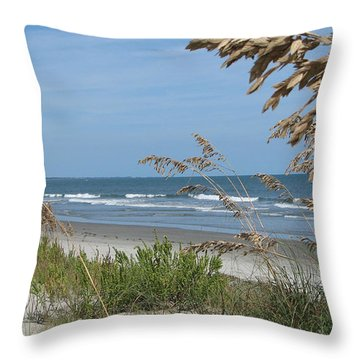 Seabrook Sc Beach Throw Pillow