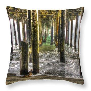 Seacliff Pier Throw Pillow