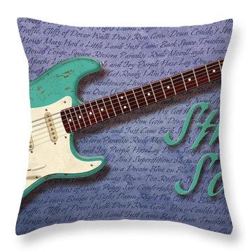 Seafoam Strat Songs  Throw Pillow