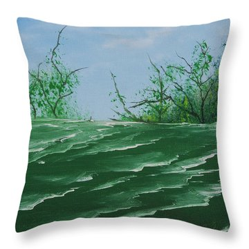 Seafoam Surf Throw Pillow