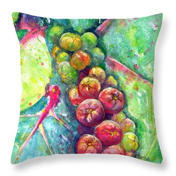 Seagrapes Throw Pillow