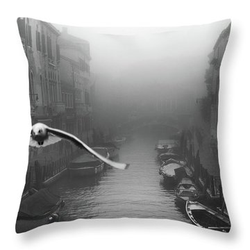 Foggy Throw Pillows