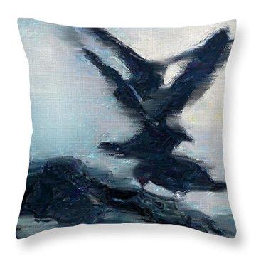 Seagull Grace Throw Pillow by Betty LaRue