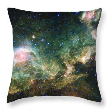 Seagull Nebula Throw Pillow by Adam Romanowicz