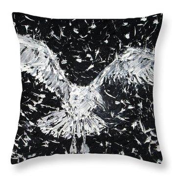 Seagull - Oil Portrait Throw Pillow by Fabrizio Cassetta