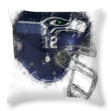 Seahawks 12 Throw Pillow