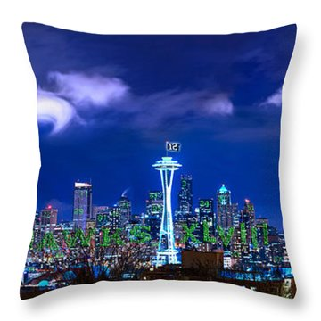 Seahawks Xlviii Throw Pillow