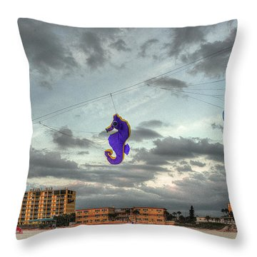 Seahorse Dance Throw Pillow by William Fields