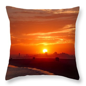 Seal Beach 7 Throw Pillow by Tom Kelly