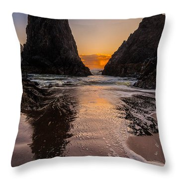 Seal Rock 1 Throw Pillow by Jacqui Boonstra
