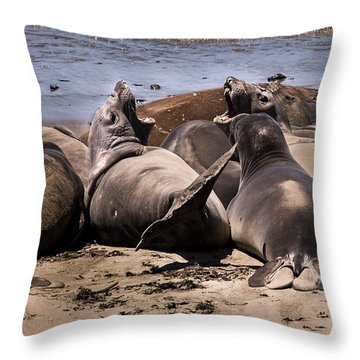 Seal Team 3 By Denise Dube Throw Pillow
