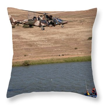 Search And Rescue  Throw Pillow by Paul Job