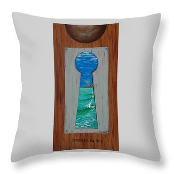 Search For The Key Throw Pillow