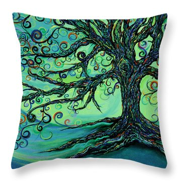 Searching Branches Throw Pillow by RK Hammock