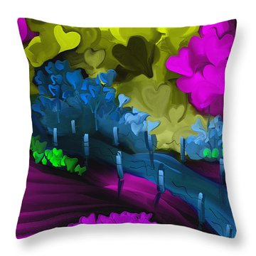 Searching For Hearts Throw Pillow