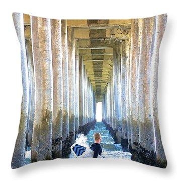 Searching For Peace Throw Pillow by Margie Amberge