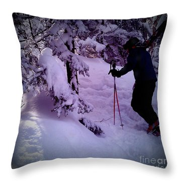 Throw Pillow featuring the photograph Searching For Powder by James Aiken
