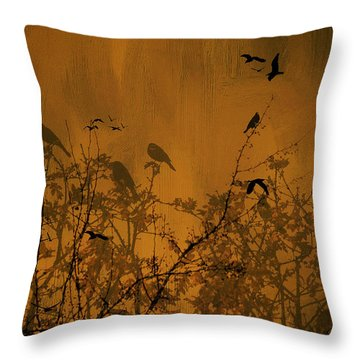 Searching For Spring Throw Pillow by Diane Schuster